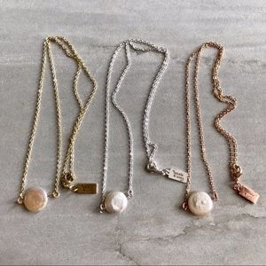 Dainty freshwater pearl necklaces